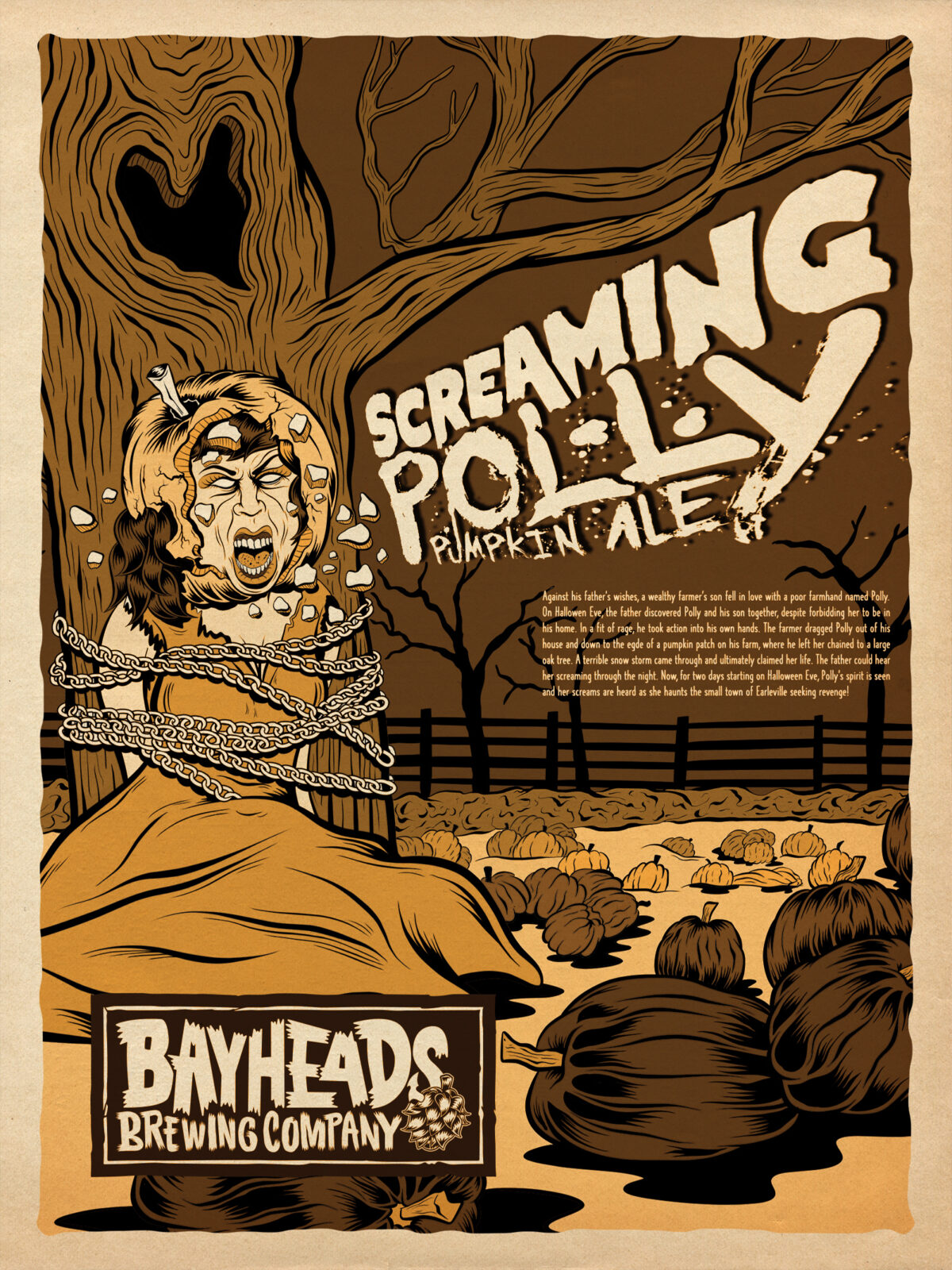 Screaming Polly – Pumpkin Ale – Bayheads Brewing Company