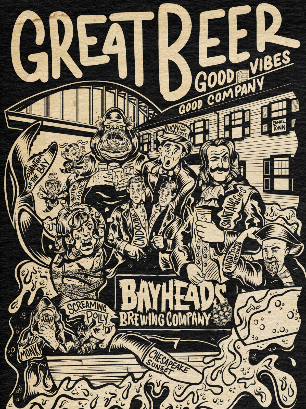 Great Beer – Apparel Design – Bayheads Brewing