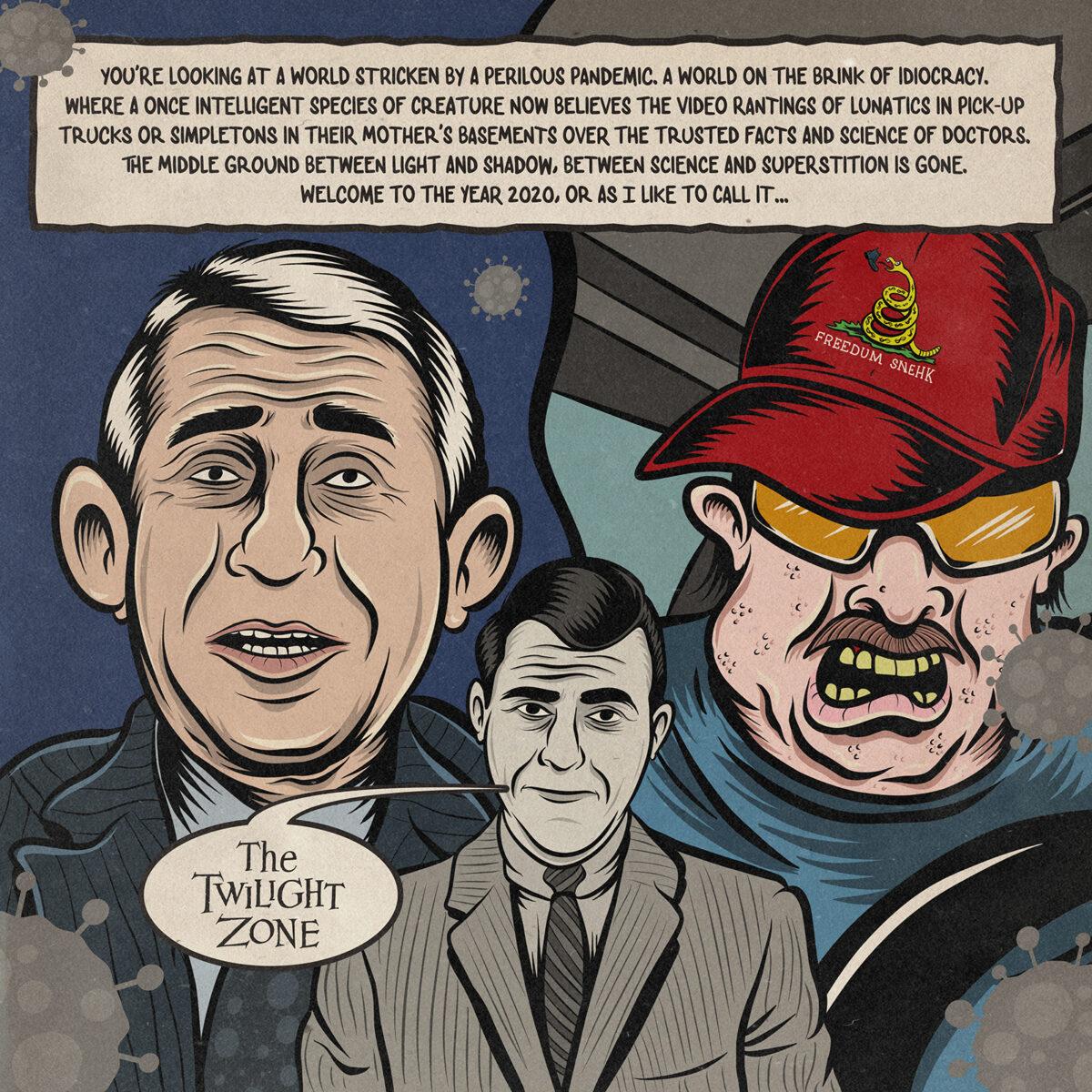 The Covidiot Files – 9 – Editorial Cartoon