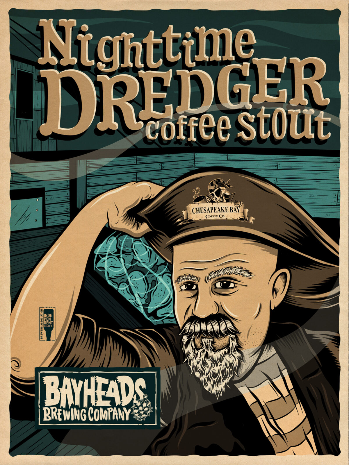 Nighttime Dredger Can – Bayheads Brewing Company