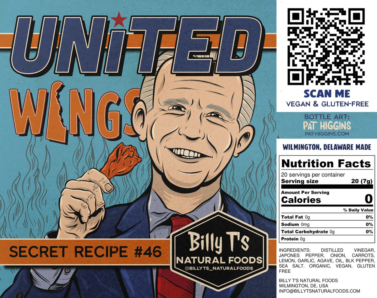 United Wings – Hot Sauce Label – Billy T's Natural Foods