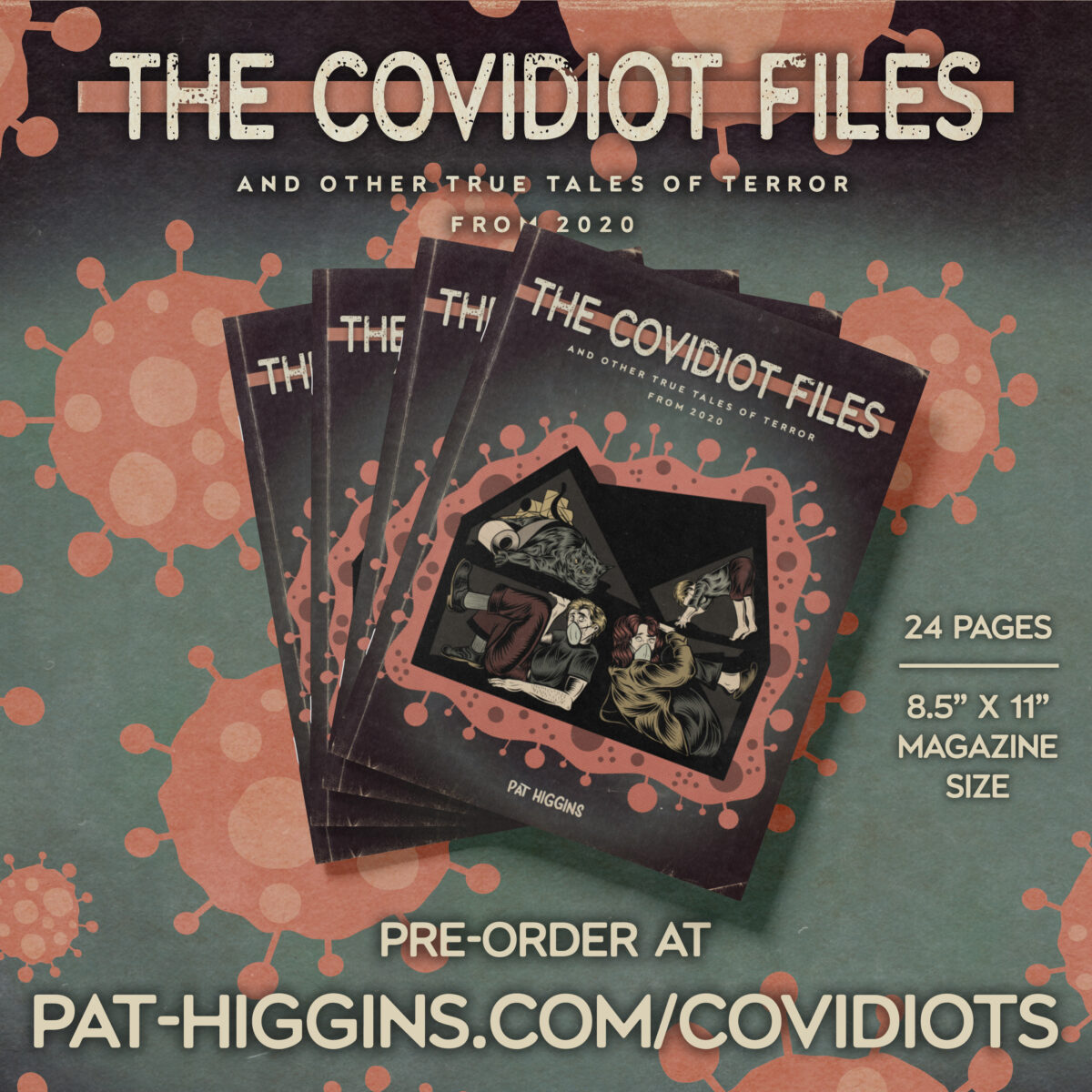 Quarantine – Cover Illustration – The Covidiot Files